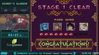 Disney's Aladdin by Le Hulk in 17:37 AGDQ 2018