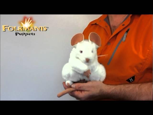 2219 Folkmanis White Mouse