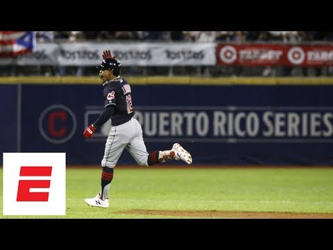 Francisco Lindor after homering in Cleveland's San Juan game: 'This is for Puerto Rico' | ESPN