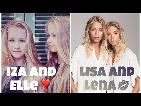 IZA and ELLE vs. LISA and LENA with NAMES//Musical.ly Battle//Best Musical.ly Compilation