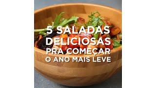 5 receitas de saladas leves