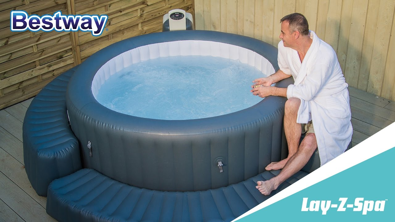 Jacuzzi Pool Youtube Lay Z Spa Surround Step Fr