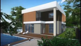 видео проекты домов с гаражом