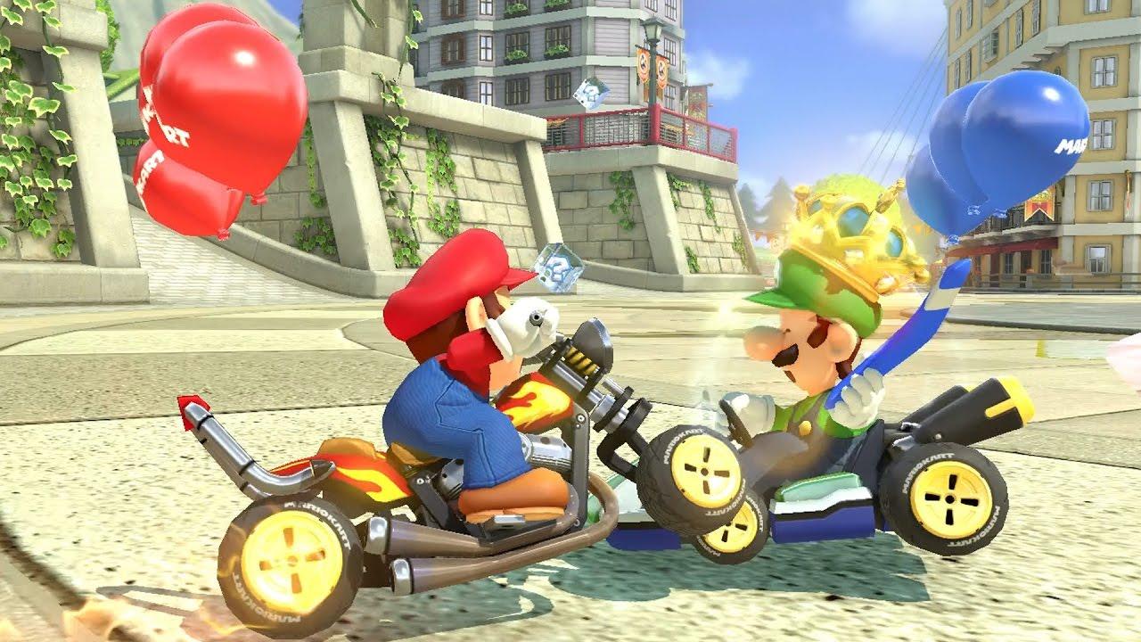 Mario Kart 8 Deluxe - Balloon Battle - All Courses (2 Players)