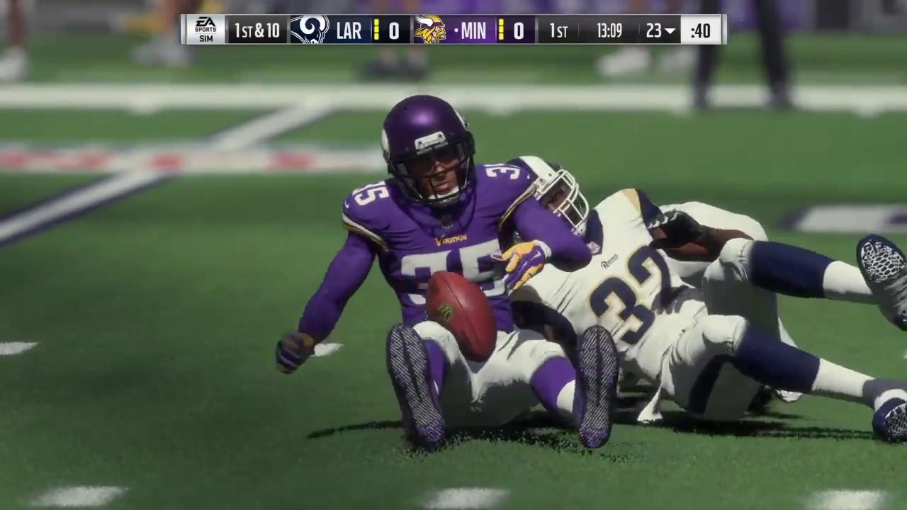 1282b73f Madden 18 - Los Angeles Rams vs Minnesota Vikings - Full Game Simulation  Nation
