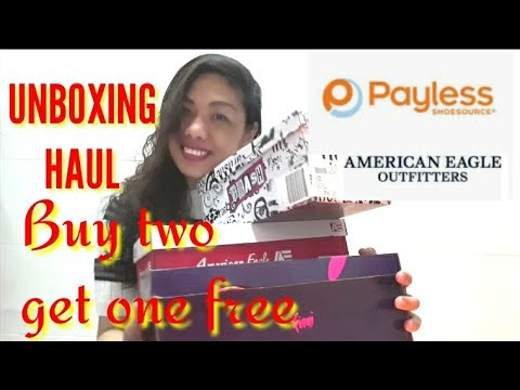 UNBOXING-TRY ON HAUL  AMERICAN EAGLE SHOES AND SANDALS FROM PAYLESS /judaybadiday/