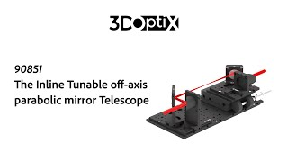 90851 Inline Tunable off-axis parabolic mirrors Telescope
