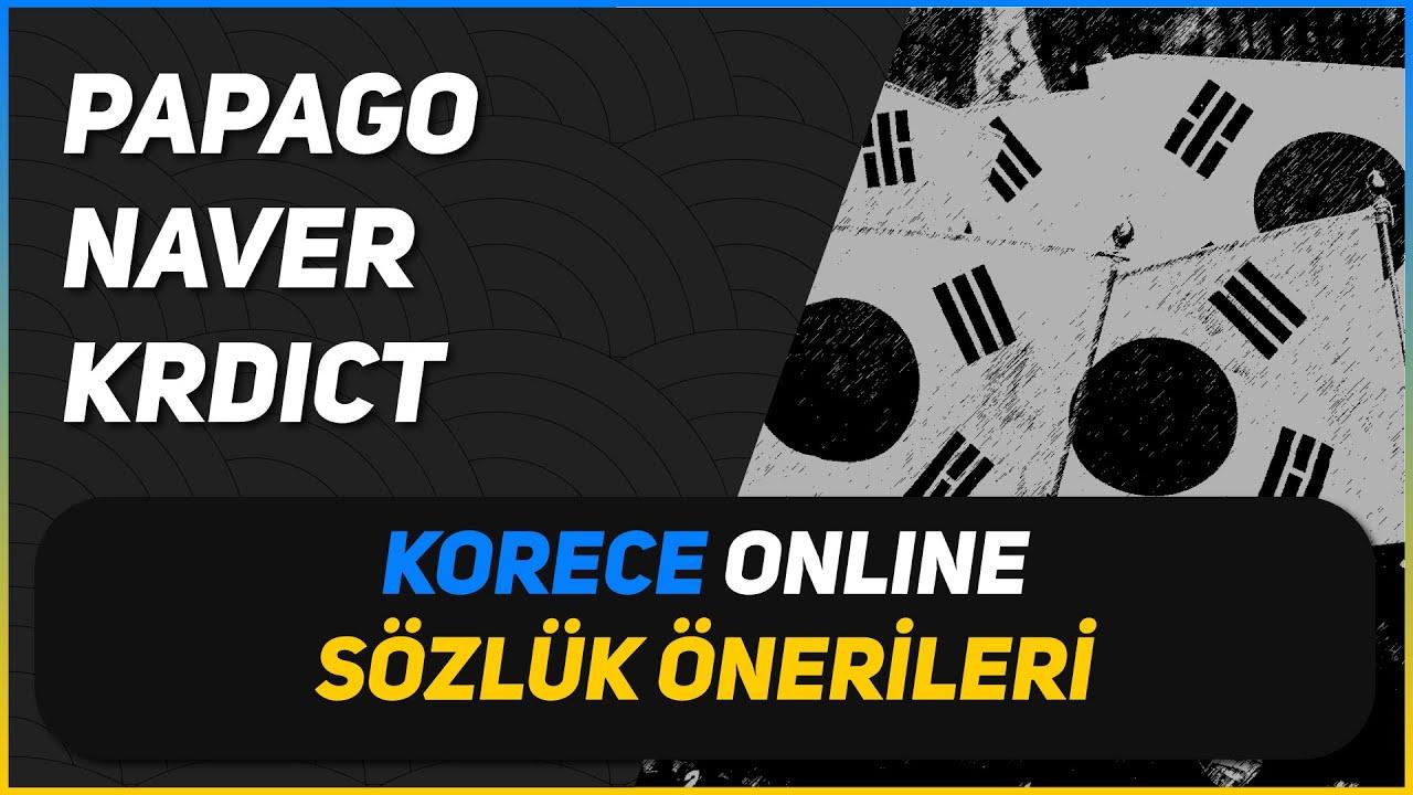 🇰🇷 Korece online sözlük önerileri