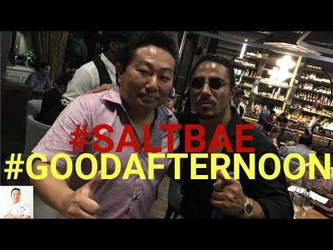 Salt Bae Meets Good Afternoon   Nusr-Et Steakhouse
