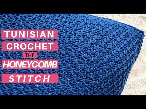 Learn The Tunisian Crochet Honeycomb Stitch Start To Finish Video