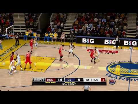 NBA LIVE 14 Throwback! Houston Rockets vs Golden State Warriors - HD