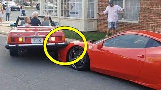 Nainen kolaroi auton $400 000 FERRARIIN!