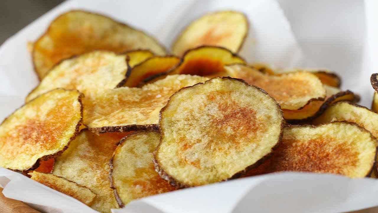 easy microwave potato chips youtube