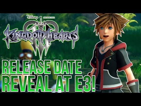 KINGDOM HEARTS 3 - RELEASE DATE REVEAL AT E3 2018!