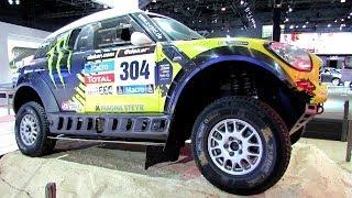 Gambar cover 2014 Mini Cooper All 4 Racing Rally Car - Paris Dakar Winner - Exterior Walaround -2014 NY Auto Show