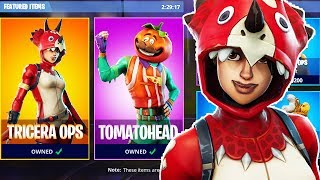 "NEW ITEM SHOP SKINS OUT! New ""Tricera Ops"" Skin! Fortnite Battle Gameplay!"