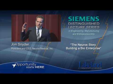 Siemens Distinguished Lecture Series - The Neuros Story: Building a Bio Enterprise