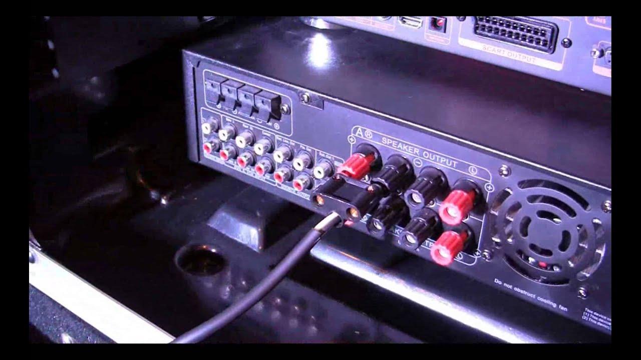 How to connect speaker to a karaoke amplifier plete pro