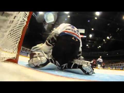 International Ice Hockey - Canada Vs USA In New Zealand - On Ice-World Ice Hockey Rink