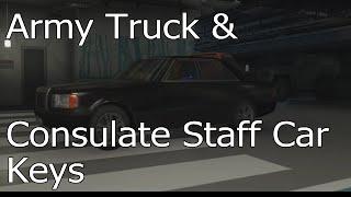 Hitman - Episode 3: Marrakesh - Army Truck & Consulate Staff Car Key Locations