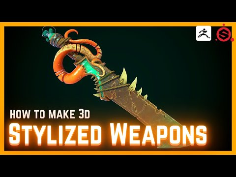 How to Model, Sculpt and Texture 3D Weapons for Games [FULL HOUR OF AMAZING TIPS & TRICKS]