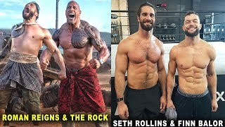 10 Fittest WWE Friends in Real Life - Roman Reigns & The Rock, Seth Rollins & Finn Balor