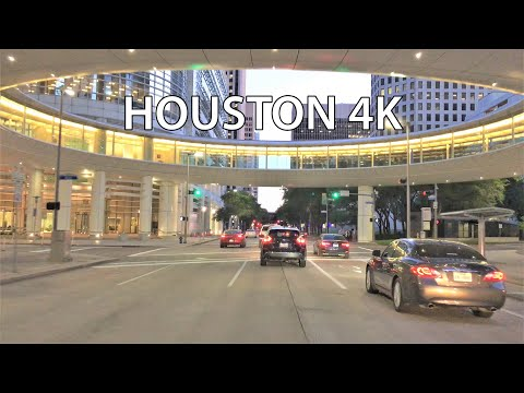 Houston 4K - Sunset Drive - Driving Downtown