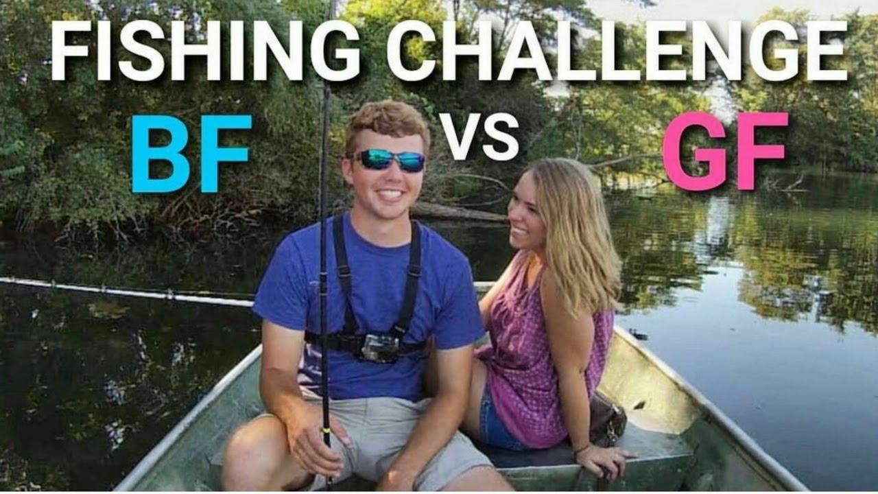 Boyfriend vs girlfriend bass fishing challenge youtube for Bass fishing challenge
