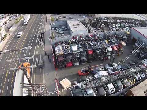 Los Angeles Dismantler Porsche Salvage Yard Aerial Tour