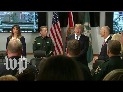 Trump praises Florida first responders: 'Give them a raise'