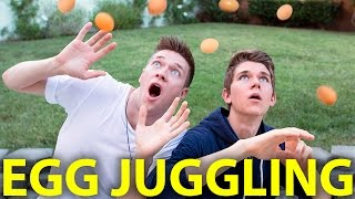 SIBLING EGG JUGGLING CHALLENGE | Collins Key & Devan Key