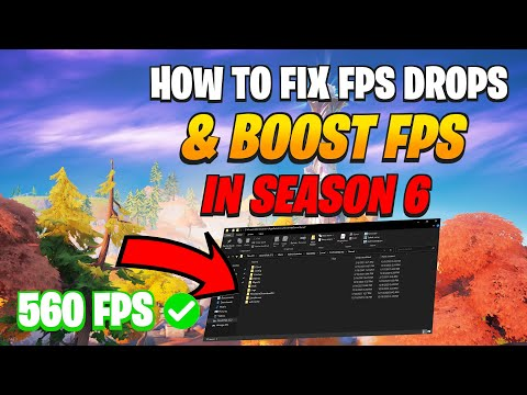 How To Fix FPS Drops And FPS Stutters In Fortnite Season 6 Chapter 2 (Insane FPS Boost)
