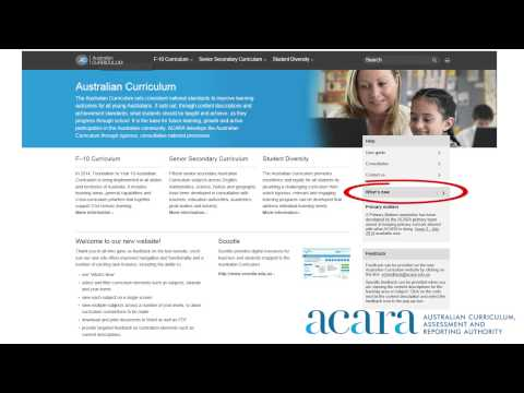 The Australian Curriculum Website