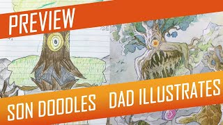 DRAWING with my kids - ROOT COLOSSUS [PREVIEW] No.59