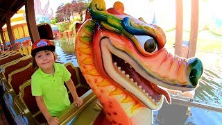My Super Fun Day in the Amusement Park | Family Fun Adventures with Dragon & TimKo Kid
