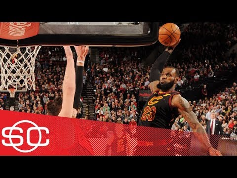 LeBron James' epic poster of Jusuf Nurkic is the No. 1 NBA play of the week   SportsCenter   ESPN