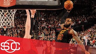 LeBron James' epic poster of Jusuf Nurkic is the No. 1 NBA play of the week | SportsCenter | ESPN