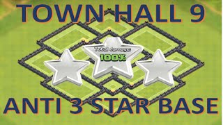 Clash Of Clans | Town Hall 9 Anti 3 Star Base | 20