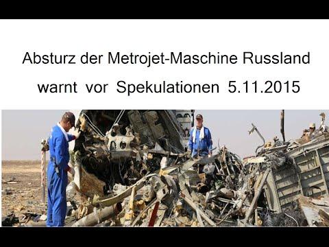 Absturz Der Metrojet-Maschine Russland Warnt Vor Spekulationen 5.11.2015