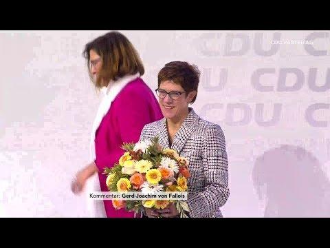 Wahl von Annegret Kramp-Karrenbauer zur CDU-Vorsitzenden auf dem Parteitag  am 07.12.18