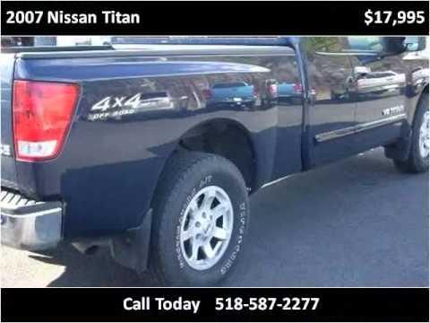 2007 Nissan Titan Used Cars Saratoga Springs NY - YouTube