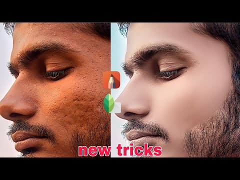 Snapseed Skin Smooth And Glow New Secret Tricks 2020 , Clean Face+hide Pimples Autodesk SketchBook