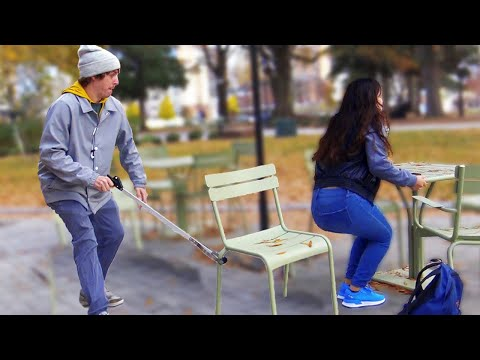 Chair Pulling Claw Prank!!