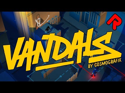 VANDALS gameplay: Draw Graffiti & Evade Police! (Turn-based puzzle game for PC, Android, iOS)