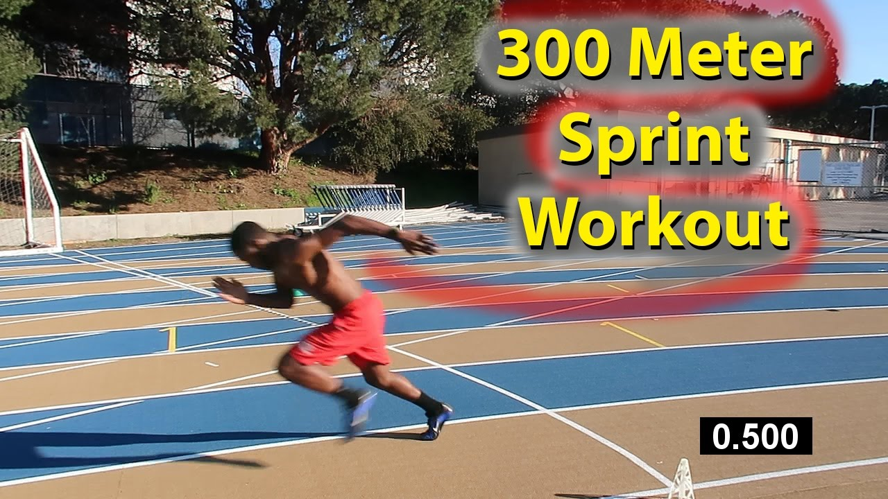 How to Run Faster 300 Meter Dash Sprint Workout!