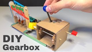 How to Make an Amazing 2 Speed Gearbox from Cardboard - Easy to Build