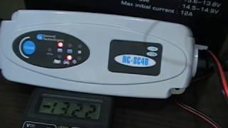 обзор интеллектуального зарядного устройства NC-SC4B и зарядка аккумулятора  Delta AGM