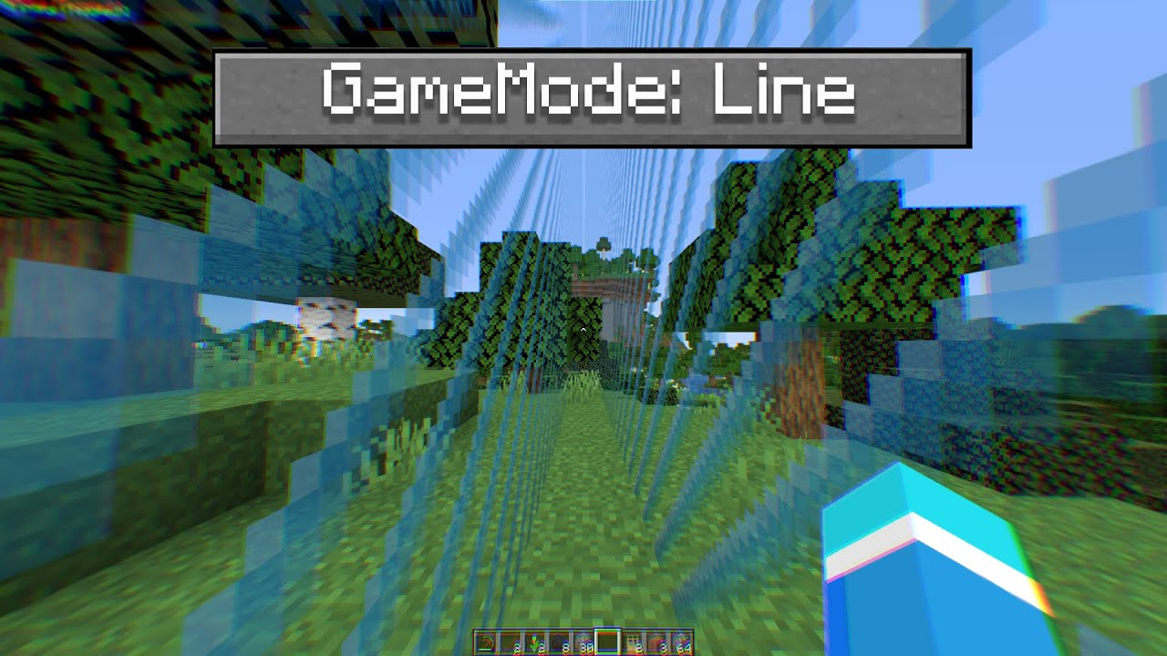 Minecraft, But It's a Straight Line...