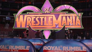 The WrestleMania banner gets raised over the Royal Rumble in Philadelphia: Exclusive, Jan. 28, 2018