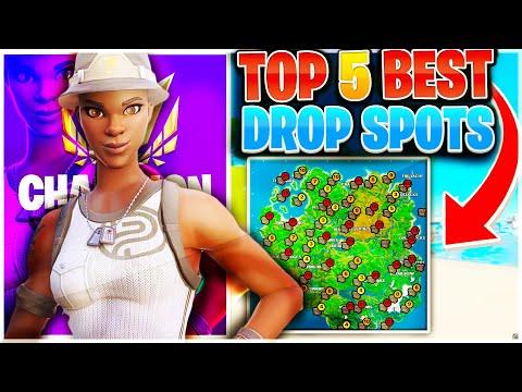 Top 5 Best Landing Spots For Arena + Tournaments! | BEST DROP SPOTS Fortnite Chapter 2 Season 2